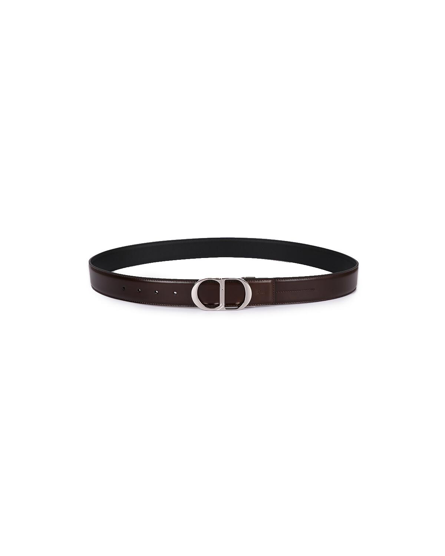法国 Christian Dior 迪奥 男士棕色亮面皮革银色板扣皮带 4044PLXYT_H24E 尺码:100cm