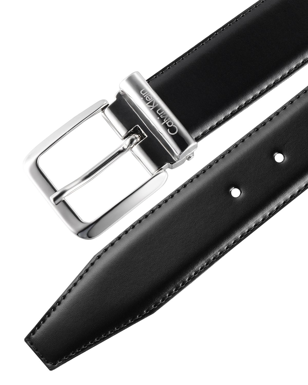 意大利原装进口 Calvin Klein 卡尔文克莱因 男士黑色针扣双面皮带 SU31CK0005 (轻微瑕疵)
