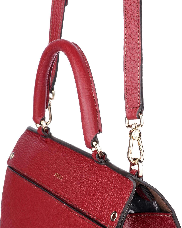 意大利原装进口 FURLA 芙拉 女士红色皮革小号手提斜挎单肩包 997364 B BLI2 AVH Ciliegia d