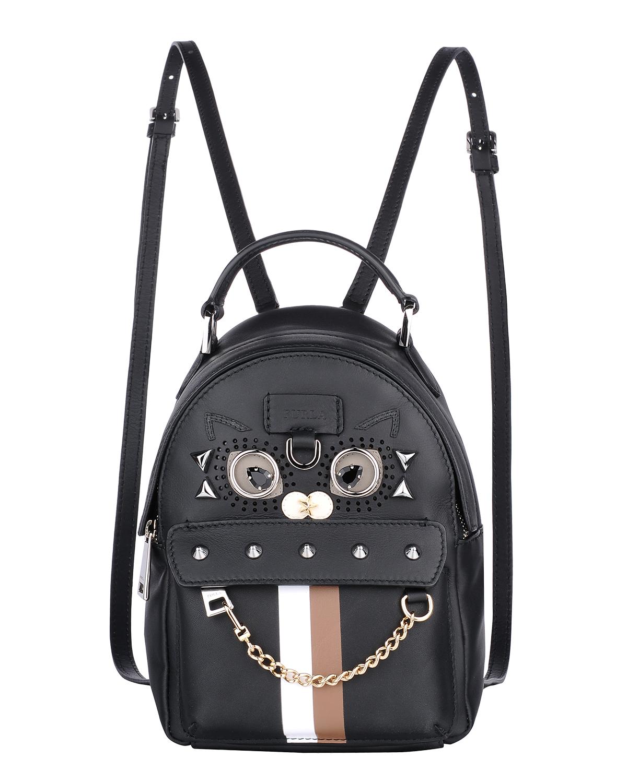 意大利原装进口 FURLA 芙拉 女士黑色皮革小号双肩包 998393 B BTL0 Q14 Onyx