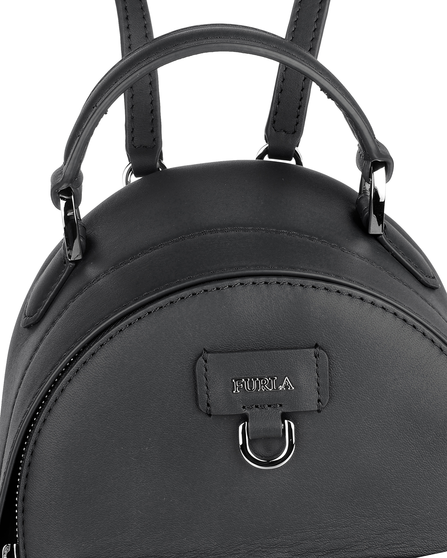 意大利原装进口 FURLA 芙拉 女士黑色皮革中号双肩包 998401 B BTC1 Q13 Onyx