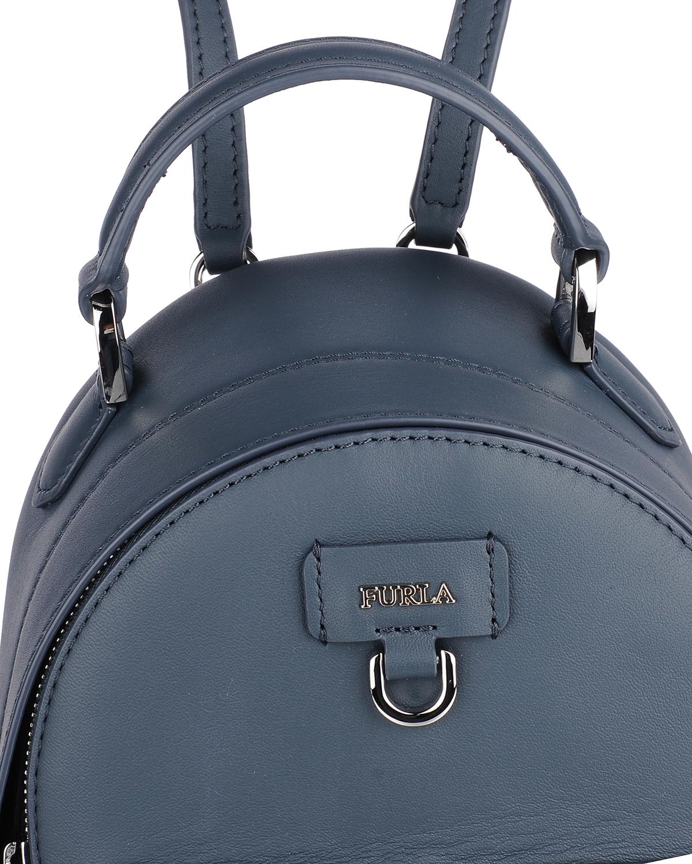意大利原装进口 FURLA 芙拉 女士深蓝色皮革小号双肩包 998409 B BTC0 Q13 Ardesia e
