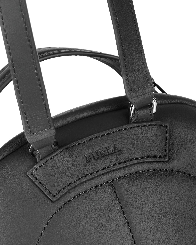 意大利原装进口 FURLA 芙拉 女士黑色皮革小号双肩包 998407 B BTC0 Q13 Onyx