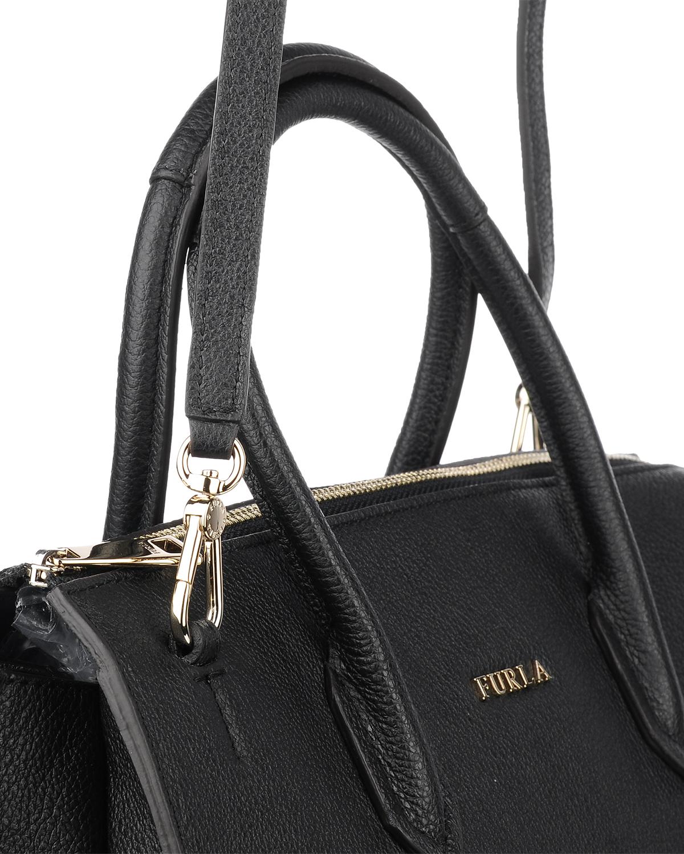 意大利原裝進口 FURLA 芙拉 女士黑色皮革手提斜挎單肩包 997362 B BMJ9 OAS Onyx