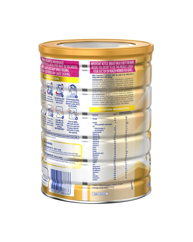 澳大利亚 Nestle 雀巢 NAN HA超级能恩金盾奶粉2段(6-12个月) 800g 3罐装