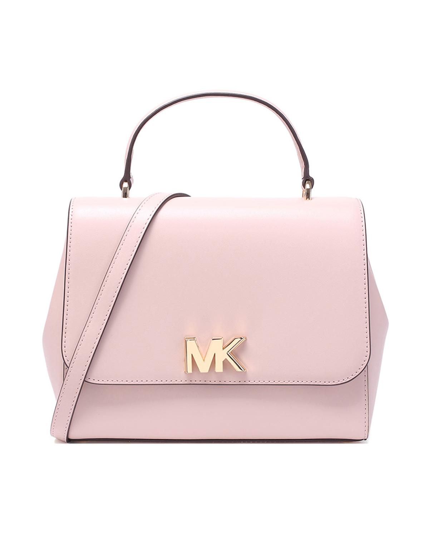 美国原装进口 Michael Kors 迈克高仕 MOTT系列 粉色皮革女士手提单肩包 30S8GOXS2L-SOFT PINK