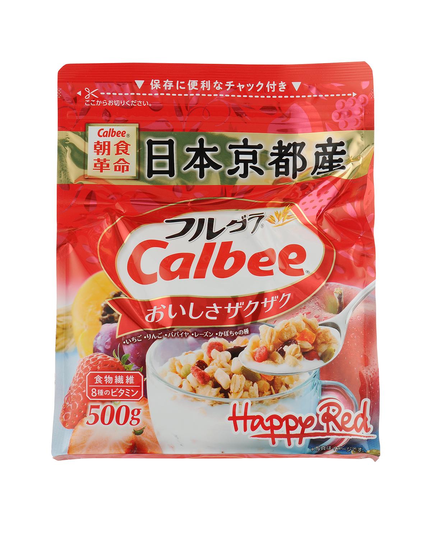 日本原装进口 Calbee 卡乐比 日本京都富果乐水果谷物燕麦片 500gx2 两包装(完税版)