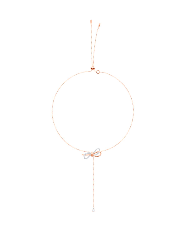 奥地利原装进口 Swarovski 施华洛世奇 LIFELONG BOW 浪漫蝴蝶结女士项链 镀玫瑰金色 5447082