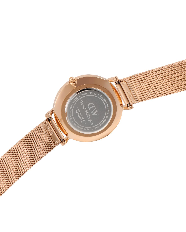 瑞典原装进口 Daniel Wellington 丹尼尔惠灵顿 32mm金边钢带石英女士手表 DW00100161