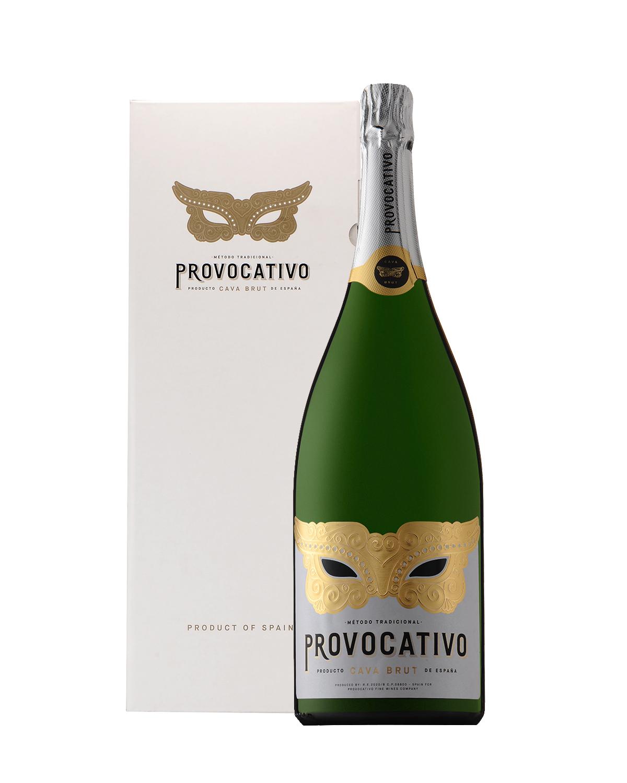 西班牙 加泰罗尼亚产区 Provocativo 卡瓦(CAVA)干型起泡酒 1500ml 11.5% Vol. 赠送礼盒 单瓶装