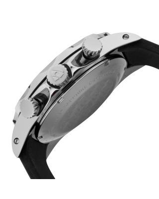Swiss Legend 瑞士传奇Tungsten系列钨黑色硅胶石英机芯男士手表