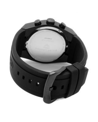 Swiss Legend 瑞士传奇Throttle系列离子镀不锈钢黑色硅胶石英机芯男表 SL-30025-BB-01-RA