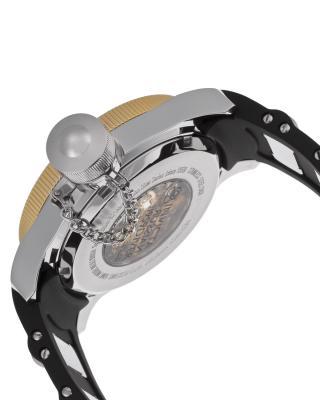 Invicta 因维克塔Russian Diver系列不锈钢圆形黑色硅胶镂空机械机芯男士手表 INVICTA-ILE1088ASYB
