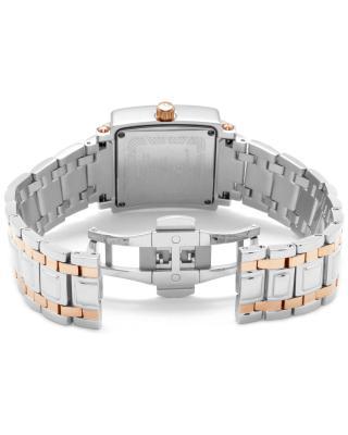 Swiss Legend 瑞士传奇Colosso系列不锈钢方形银色和玫瑰色石英机芯女士手表 SL-20024-SR-02MOP