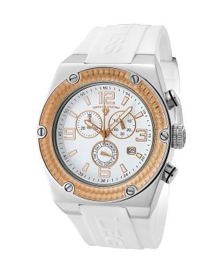Swiss Legend 瑞士传奇Throttle系列不锈钢圆形白色石英机芯男士手表