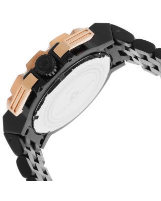 Swiss Legend 瑞士传奇Challenger系列离子镀不锈钢圆形黑色石英机芯男士手表