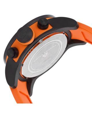 Swiss Legend 瑞士传奇Airbourne系列离子镀不锈钢圆形橙色硅胶石英男表