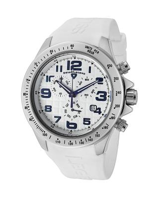Swiss Legend 瑞士传奇Eograph系列不锈钢圆形白色石英机芯男士手表