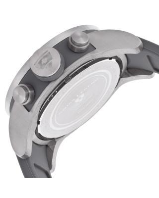 Swiss Legend 瑞士传奇Airbourne系列不锈钢圆形灰色硅胶石英机芯男士手表 SL-30425-014