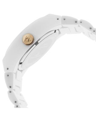 Swiss Legend 瑞士传奇Throttle系列陶瓷圆形白色石英机芯女士手表 SL-10054-WWTRA