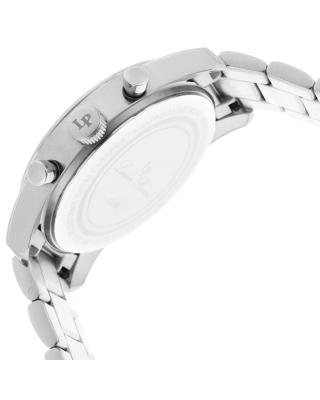 Lucien Piccard 卢森皮卡尔 Mulhacen系列不锈钢圆形银色石英机芯男士手表 LP-12356-22S