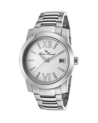 【夺宝】Lucien Piccard 卢森皮卡尔Bordeaux系列不锈钢圆形银色石英机芯女士手表