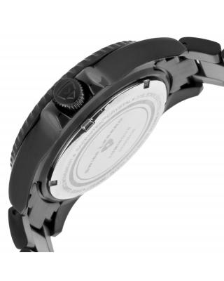 Swiss Legend 瑞士传奇Luminous系列离子镀不锈钢圆形黑色石英机芯男士手表
