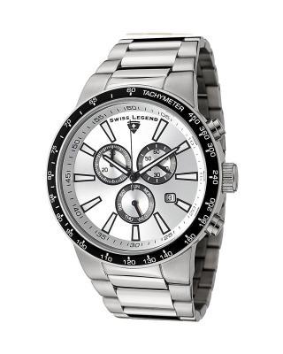 Swiss Legend 瑞士传奇Endurance系列不锈钢圆形银色石英机芯男士手表