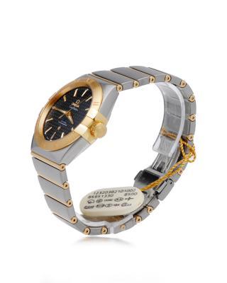 瑞士 Omega 欧米茄星座系列自动机械Cal.850018K黄金和精钢金色男士手表 123.20.38.21.01.002