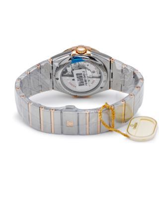 瑞士 Omega 欧米茄星座系列8612 18K玫瑰金和不锈钢日期和星期显示自动机械男士手表 123.25.38.22.02.001