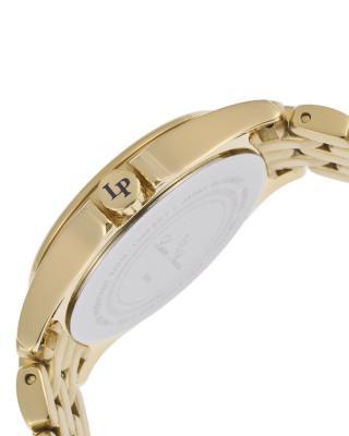Lucien Piccard 卢森皮卡尔Adina系列不锈钢圆形金色石英机芯女士手表 LP-13459-YG-11