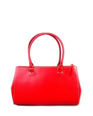 美式潮牌 Kate Spade 凯特丝蓓 亮红色气质名媛款真皮女士手提包