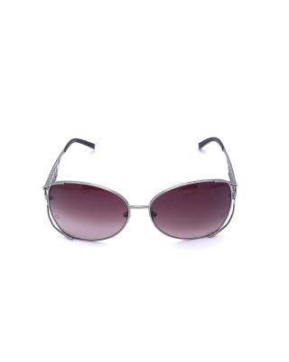 现货 Montblanc 万宝龙 优雅酒红色复古镂空镜架女士太阳镜