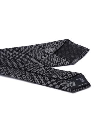 意大利 Versace 范思哲 深灰色熟男必备商务休闲男士真丝领带