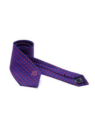 意大利 Versace 范思哲 绅士品质紫色格纹真丝男士商务领带