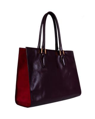 【时尚大腕儿】TOD'S 托德斯巧克力色真皮时尚女士手提包