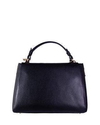 意大利 Versace 范思哲 经典黑商务休闲时尚百搭牛皮提挎多用包