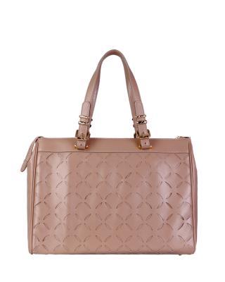 意大利 Versace 范思哲 时尚优雅名伶女士中号牛皮手提包