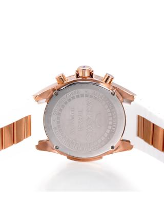 Aquaswiss 瑞士水绿 玫瑰金色316L精钢硅胶时尚男士瑞士石英手表 TR805063