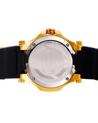 Aquaswiss 瑞士水绿金色316L精钢硅胶女士瑞士石英手表 39LD006