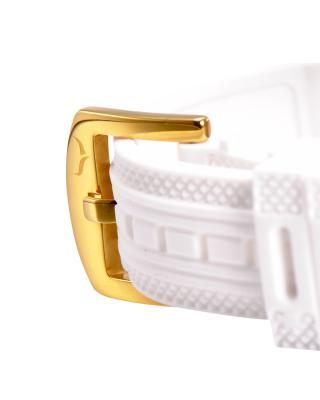 Aquaswiss 瑞士水绿 金色316L精钢硅胶女瑞士石英手表 39LD003
