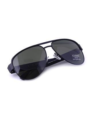 美式时尚 Guess 盖尔斯 型男必备男士飞行员太阳眼镜 GU6652-BLK2