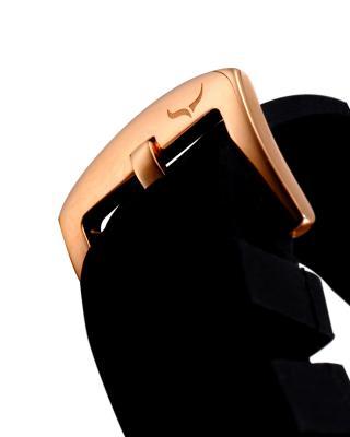 Aquaswiss 瑞士水绿 316L精钢黑色硅胶男士石英手表 39G5005