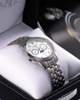 August Steiner 八月施泰纳 商务款钻石双历石英男士手表