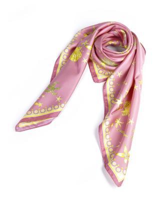 高端定制 Versace 范思哲 浪漫花色名伶必备多用女士真丝丝巾