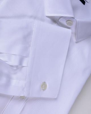 意大利经典 Versace 范思哲白色男士商务休闲纯棉长袖衬衫 尺码39