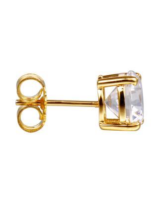 独家定制 De Dears 925银时尚小清新金色顶级锆石女士耳钉