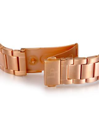 Lucien Piccard 卢森皮卡尔Helena系列不锈钢圆形玫瑰金色石英机芯女士手表 LP-12922-RG-11