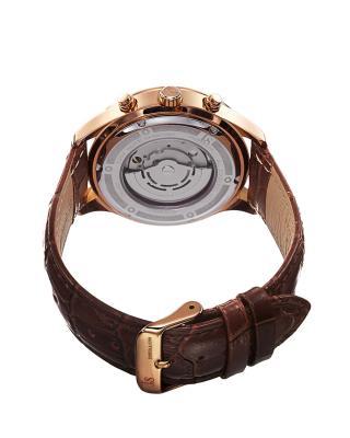 Joshua & Sons 乔舒亚父子男士多功能真皮机械手表
