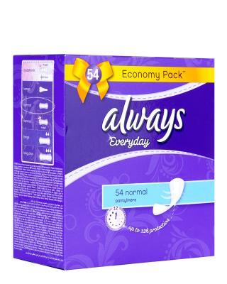 德版护舒宝 Always 欧薇 无香型标准版抗敏护垫 54片装 L 15cm 两包装